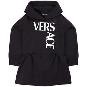 Versace Logo Mjukis-klänning Svart 4 år