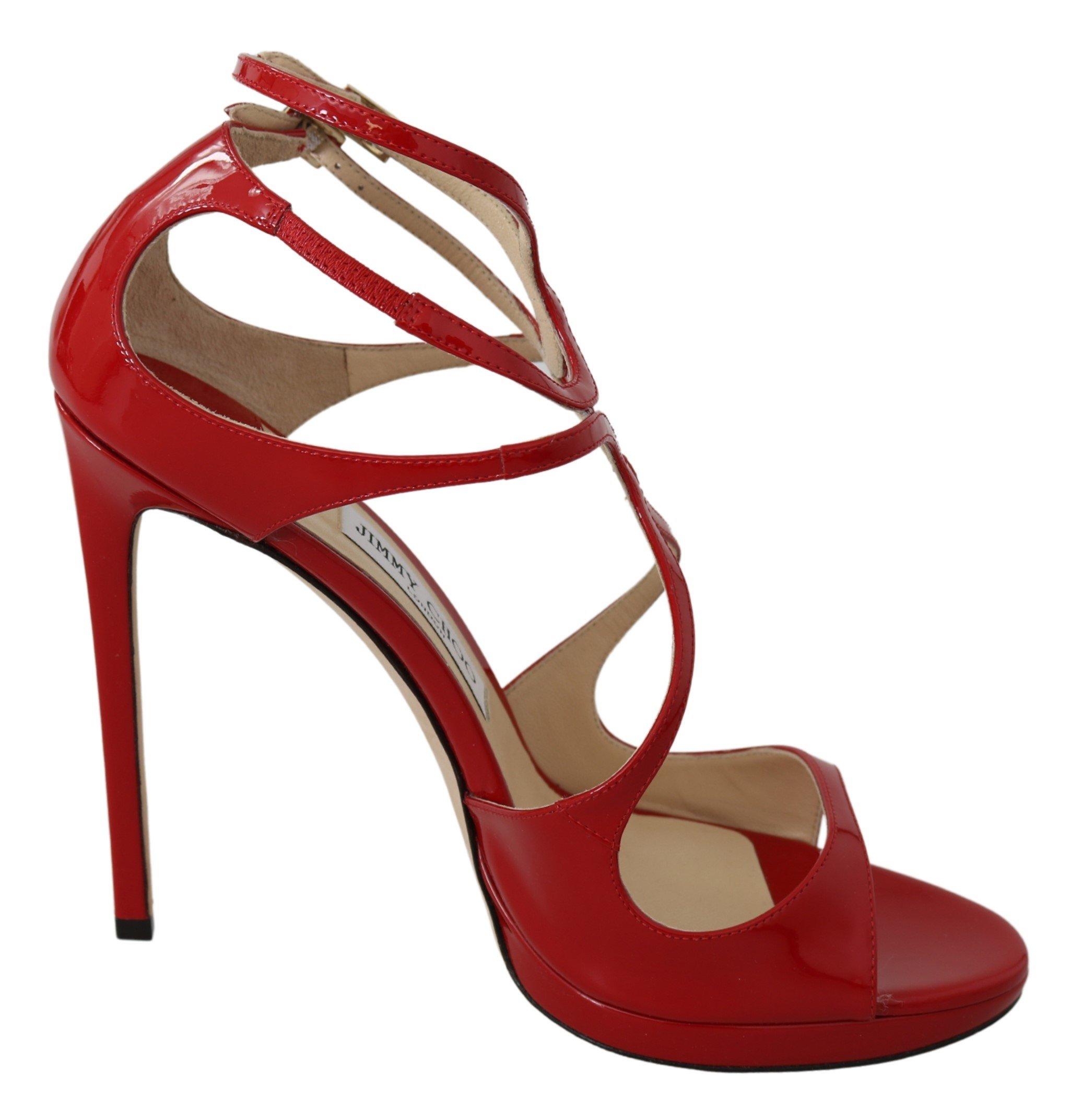 Jimmy Choo Women's Lance120 Sandals Red 191714901414 - EU41/US11
