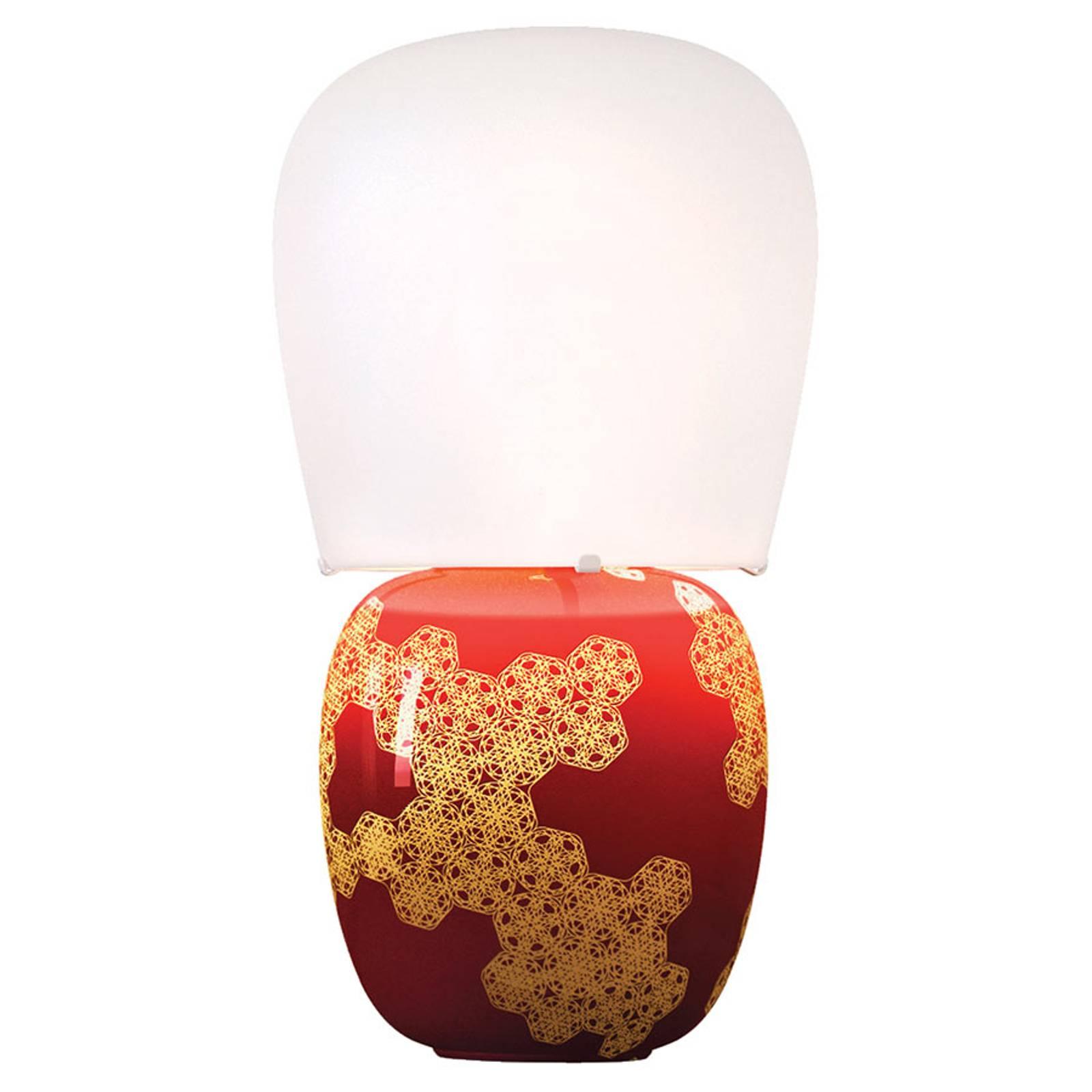 Kundalini Hive - keraaminen pöytälamppu, punainen