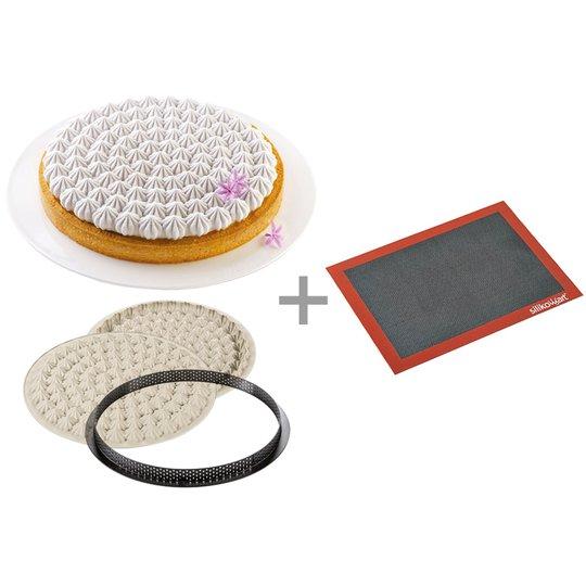 Silikomart Set med Taarte Meringue + air mat
