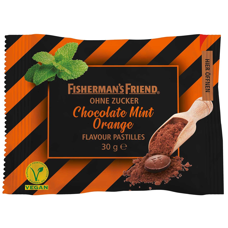 Fishermans Friend Chocolate Mint Orange 25g