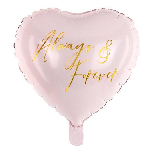 Folieballong Always and Forever Rosa - 45 cm
