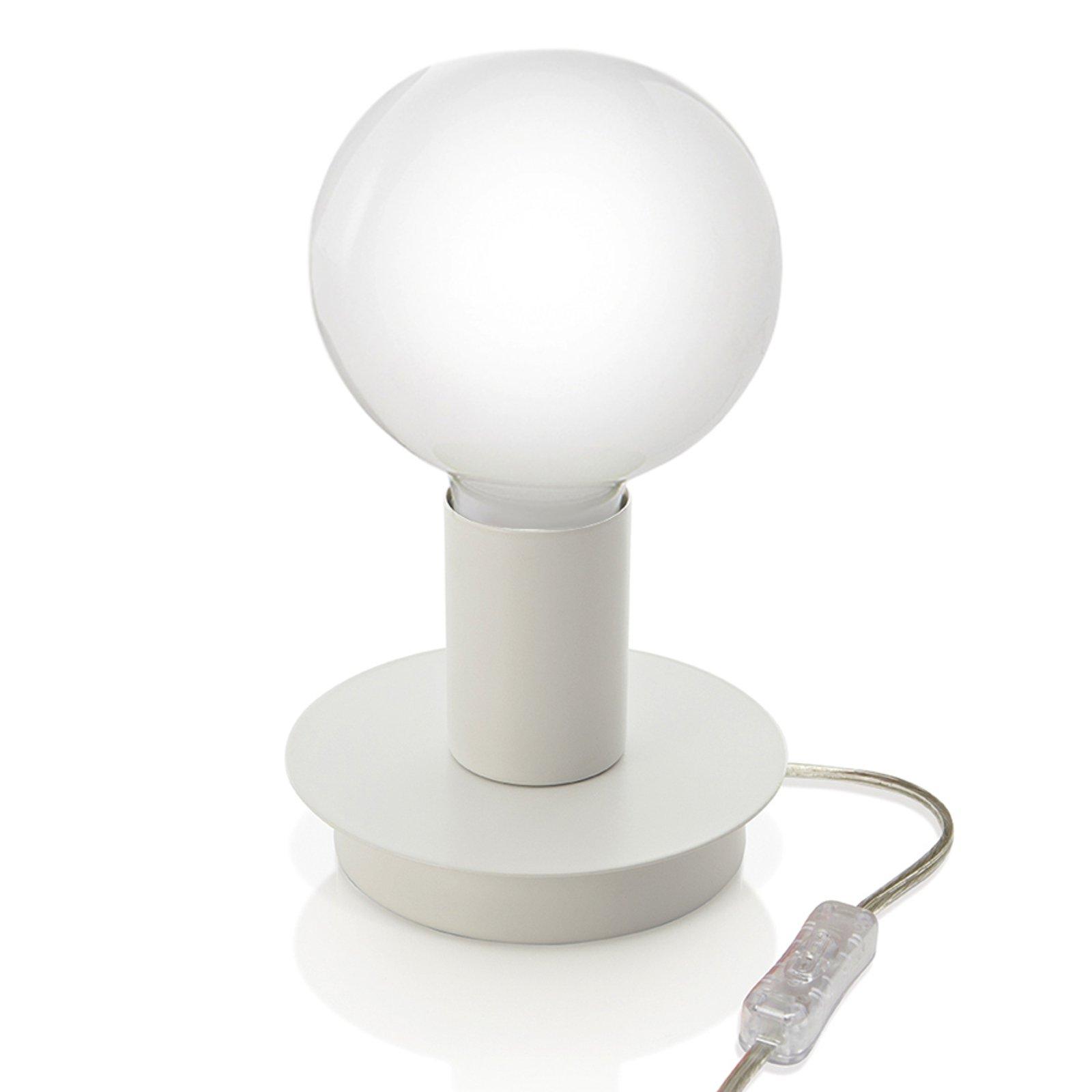 Puristisk bordlampe Lumetto - hvit