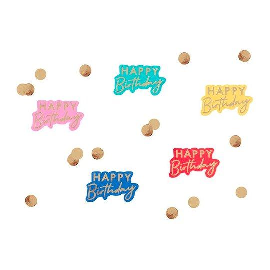 Konfetti Happy Birthday Guld/Multi - 13 gram