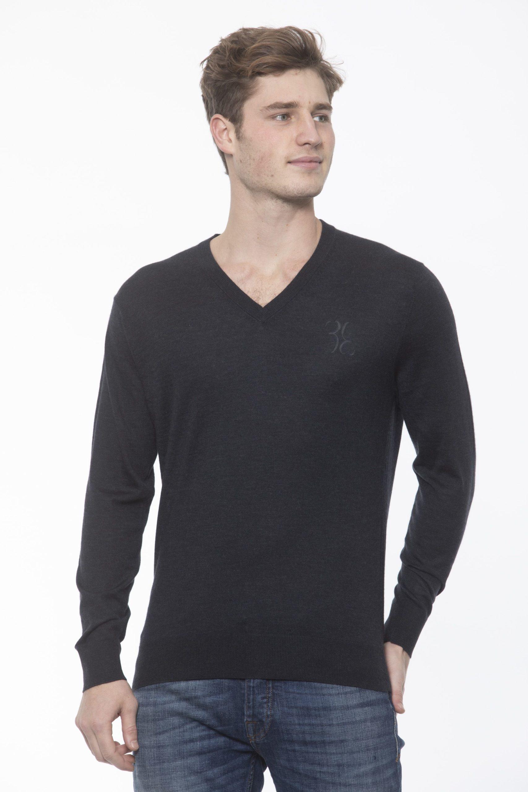 Billionaire Italian Couture Men's Anthracite Sweater White BI1313516 - S
