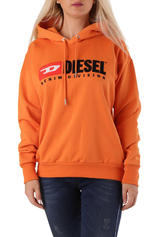 Diesel Women's Sweatshirt Various Colours 297647 - orange-2 XS