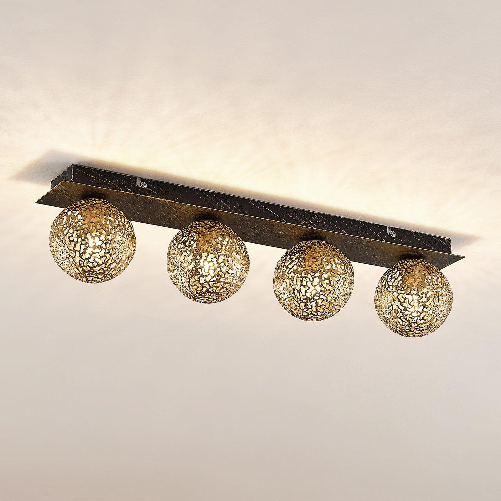 Lucande Evory taklampe, kantet, 4 lyskilder
