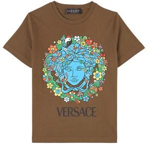 Versace Floral Medusa Print T-shirt Brun 4 år