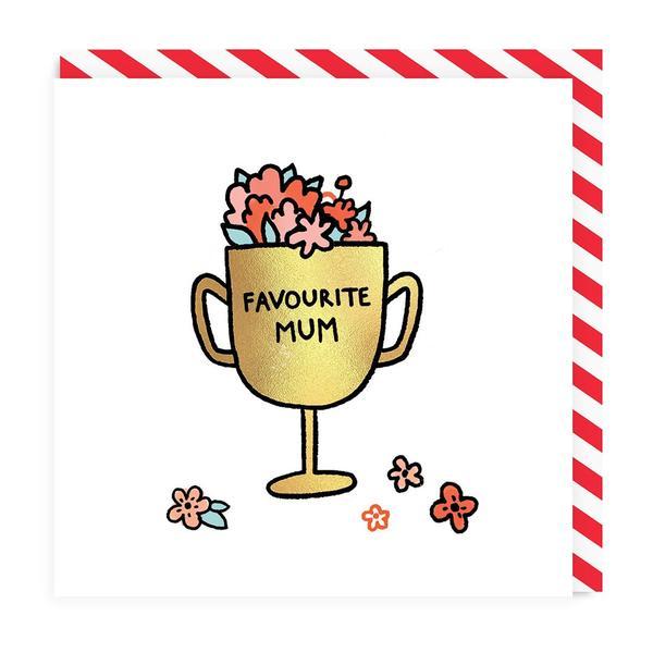 Favourite Mum Award Greeting Card