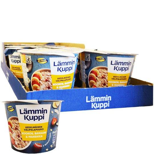 Hel Låda Mellanmålsgröt Kokos, Banan & Jordgubb 8 x 54g - 34% rabatt