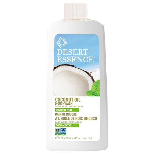 Desert Essence Coconut Oil Mouthwash - Coconut Mint, 473 ml