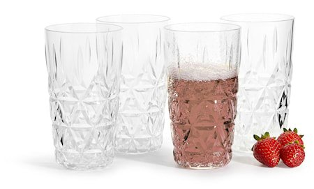 Piknik Allglass Transparent 40cl 4-pakning