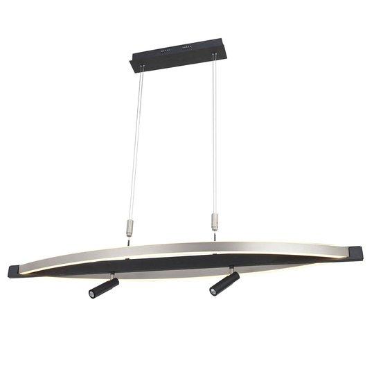 Lucande Matwei -LED-riippuvalo, ovaali, nikkeliä