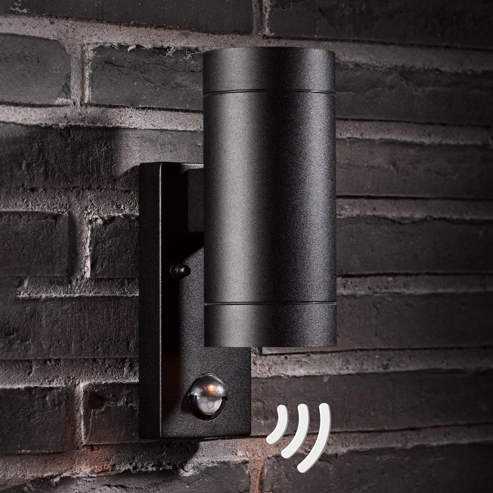 Ulkoseinävalaisin Tin Maxi Double Sensor, musta
