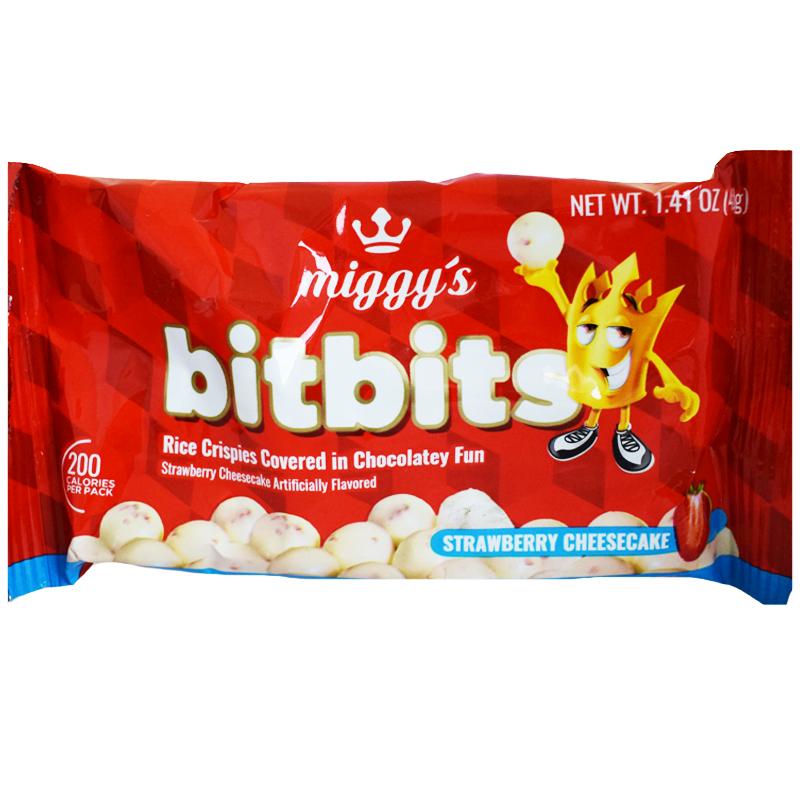 """Godis """"Bitbits Strawberry Cheesecake"""" 40g - 68% rabatt"""