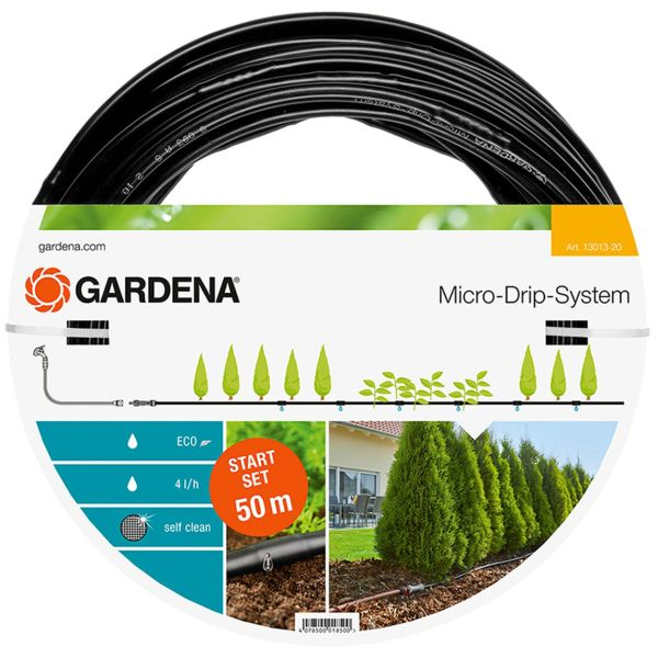 Gardena Micro-Drip-System Dråpeslange 50 m, med trykkutjevner