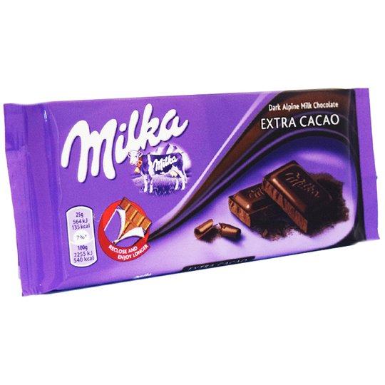 Mörk Chokladkaka Extra Kakao 100g - 47% rabatt