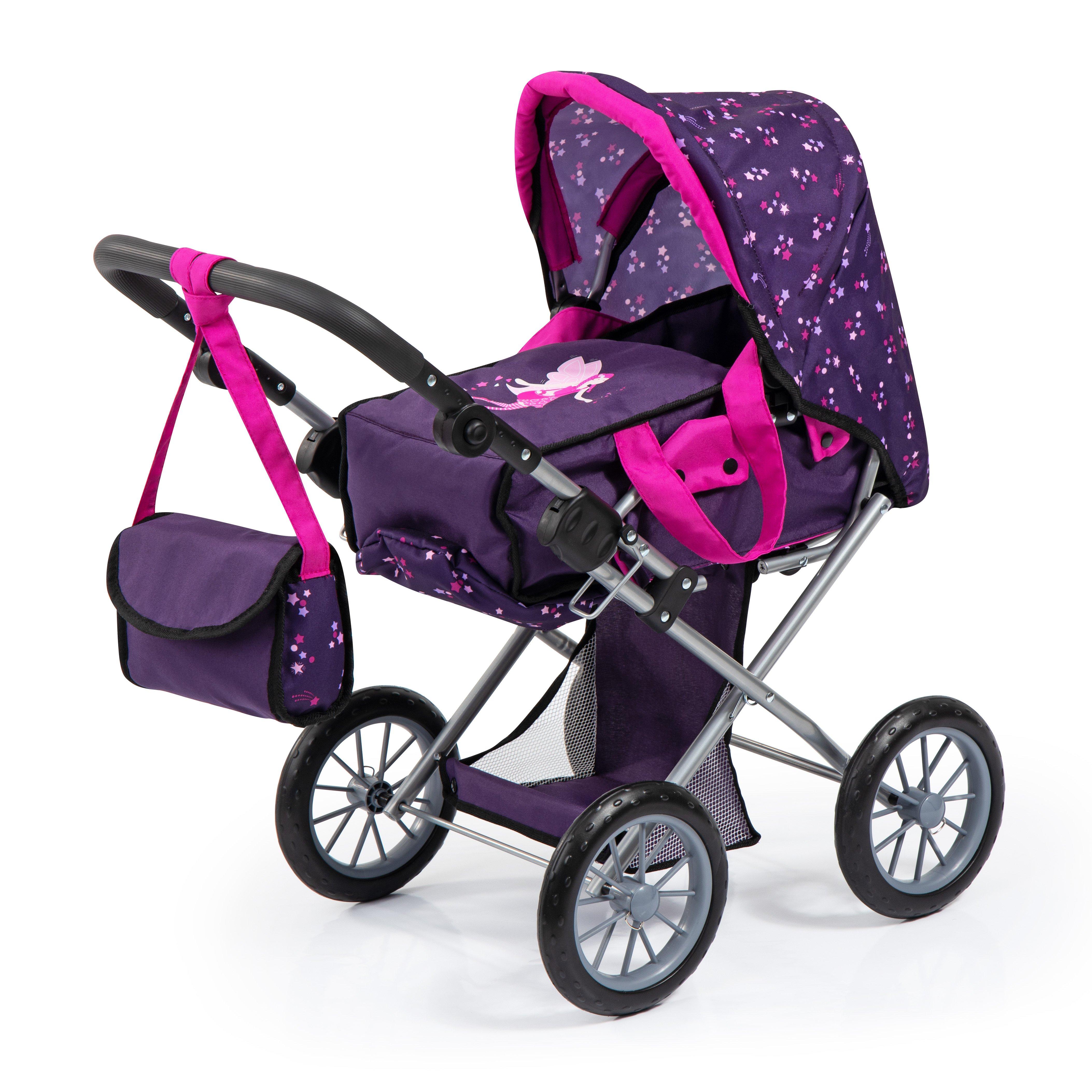 Bayer - Dolls Pram - City Star - Purple (13679AA)