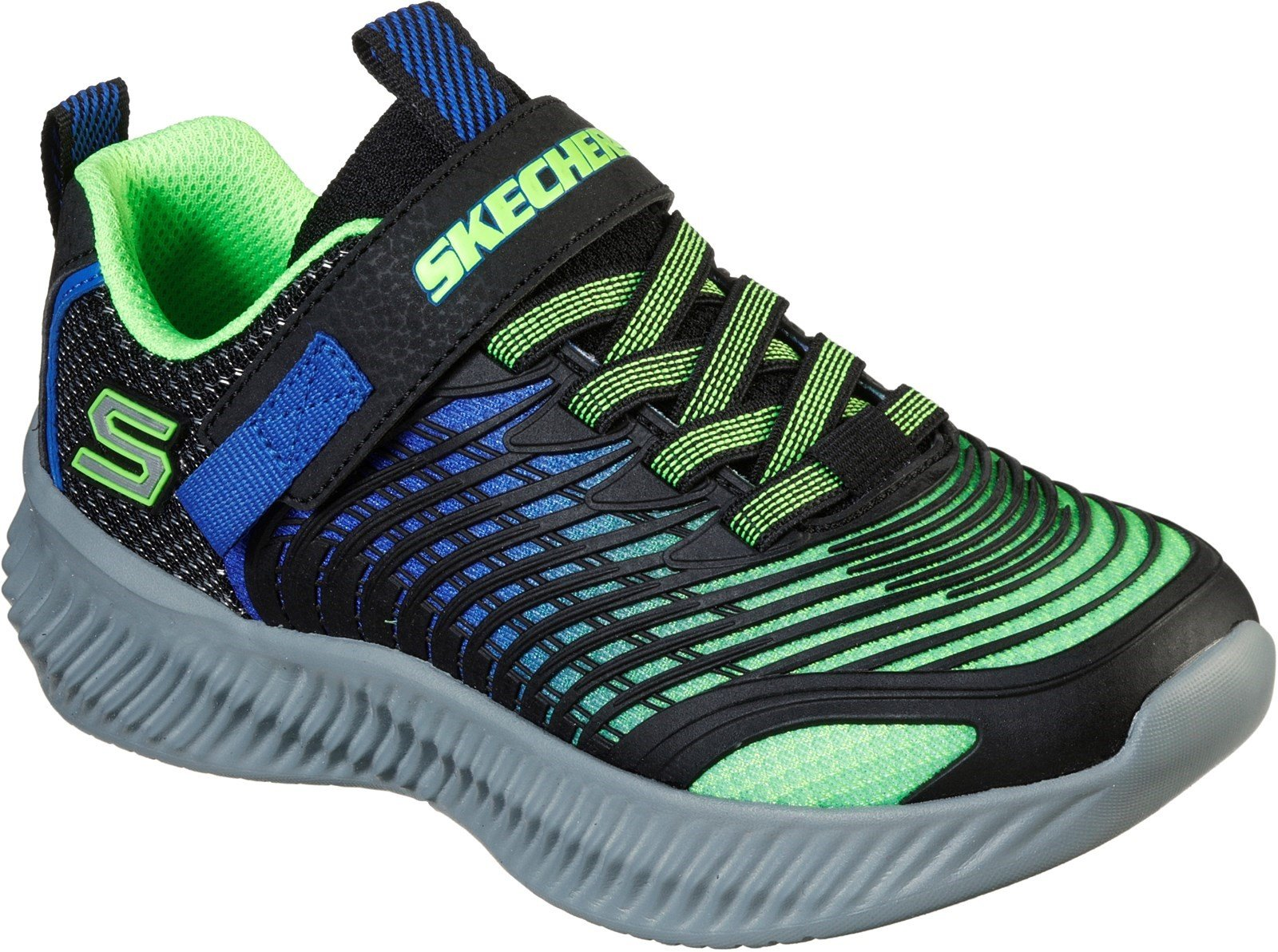 Skechers Kid's OpticoSports Trainer Various Colours 31175 - Lime/Blue 9.5