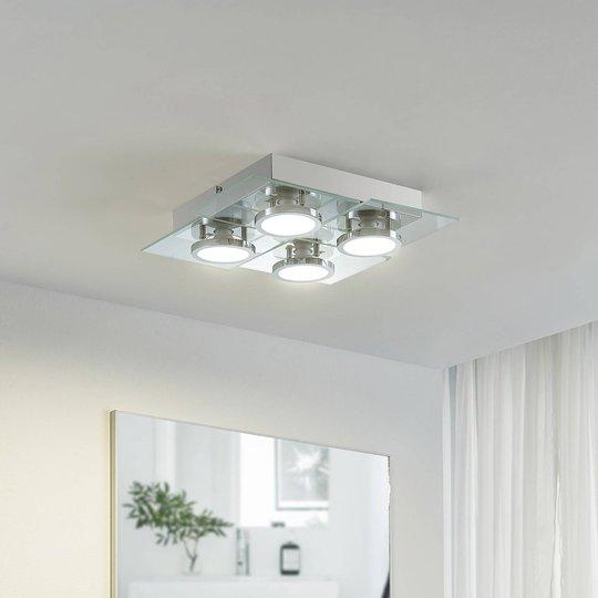 Lindby Imiria LED-taklampe, firkantet, 4 lyskilder