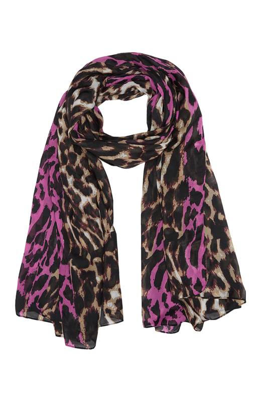 Cellbes Leopardmönstrad scarf Mönstrad
