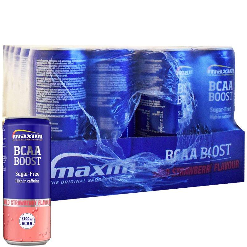 """Laatikollinen """"BCAA Boost"""" Treenijuomaa 24 x 330ml - 51% alennus"""