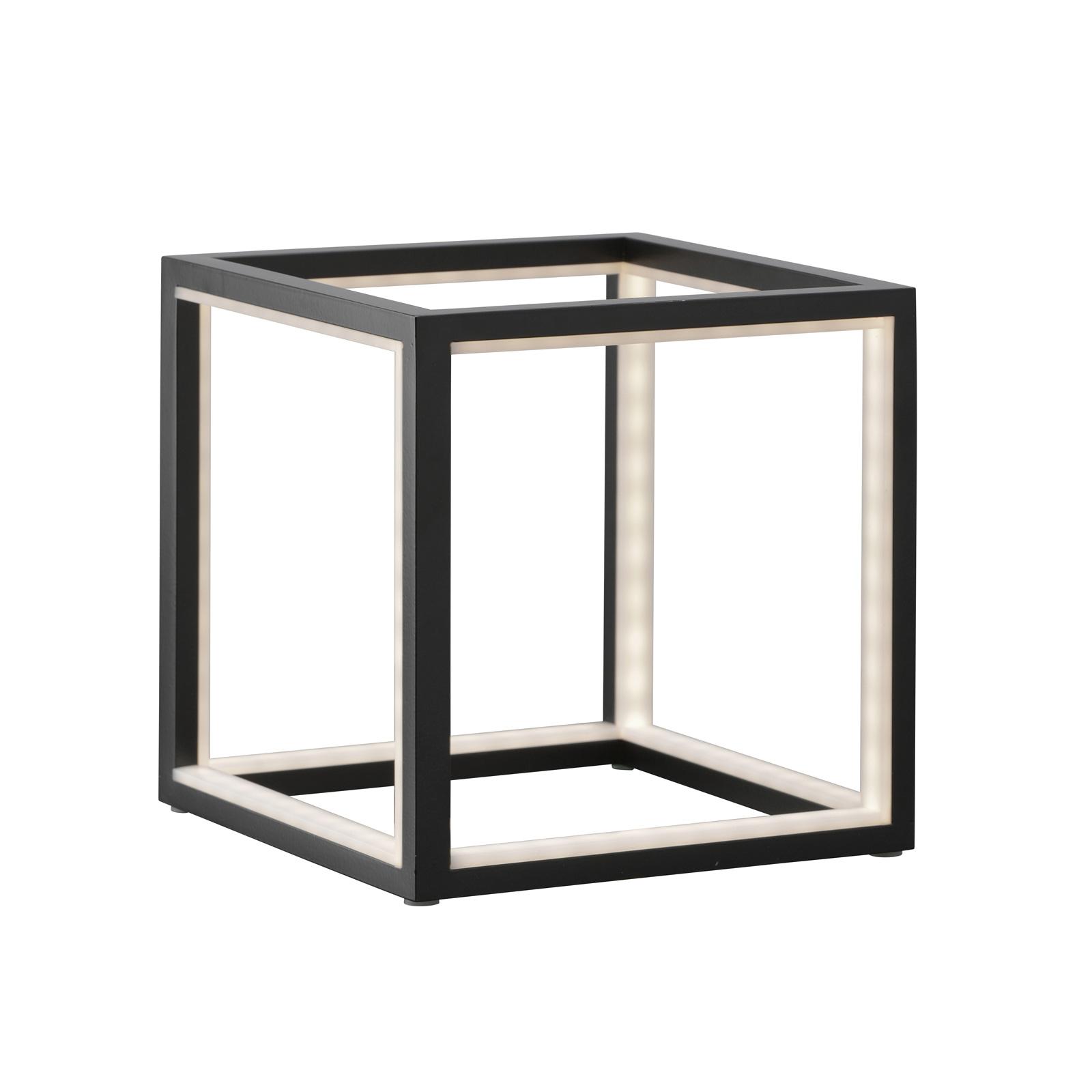 LED-pöytälamppu Delux, musta, 20 cm