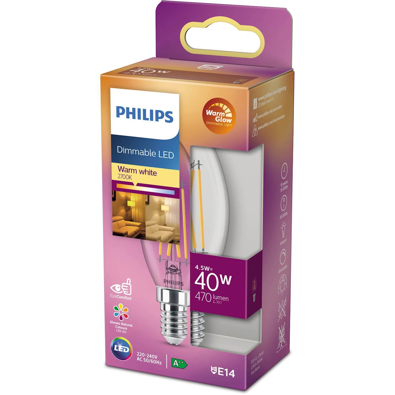 Philips LED Classic 40w kron E14