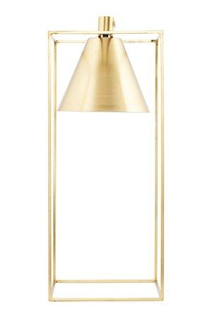 Bordlampe Kubix 18x18 cm - Messing/Hvit