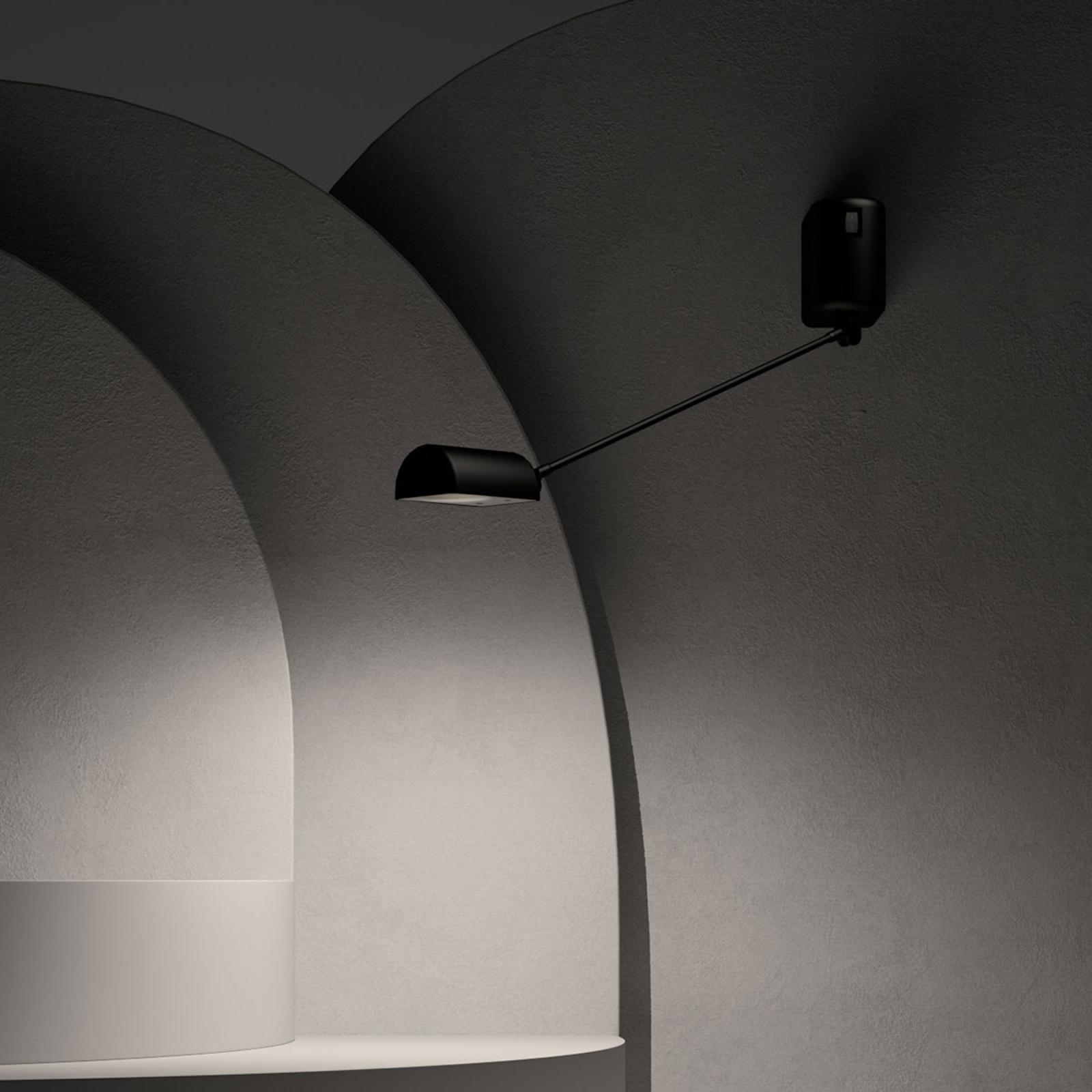 Lumina Daphine -LED-seinävalaisin 35 cm musta