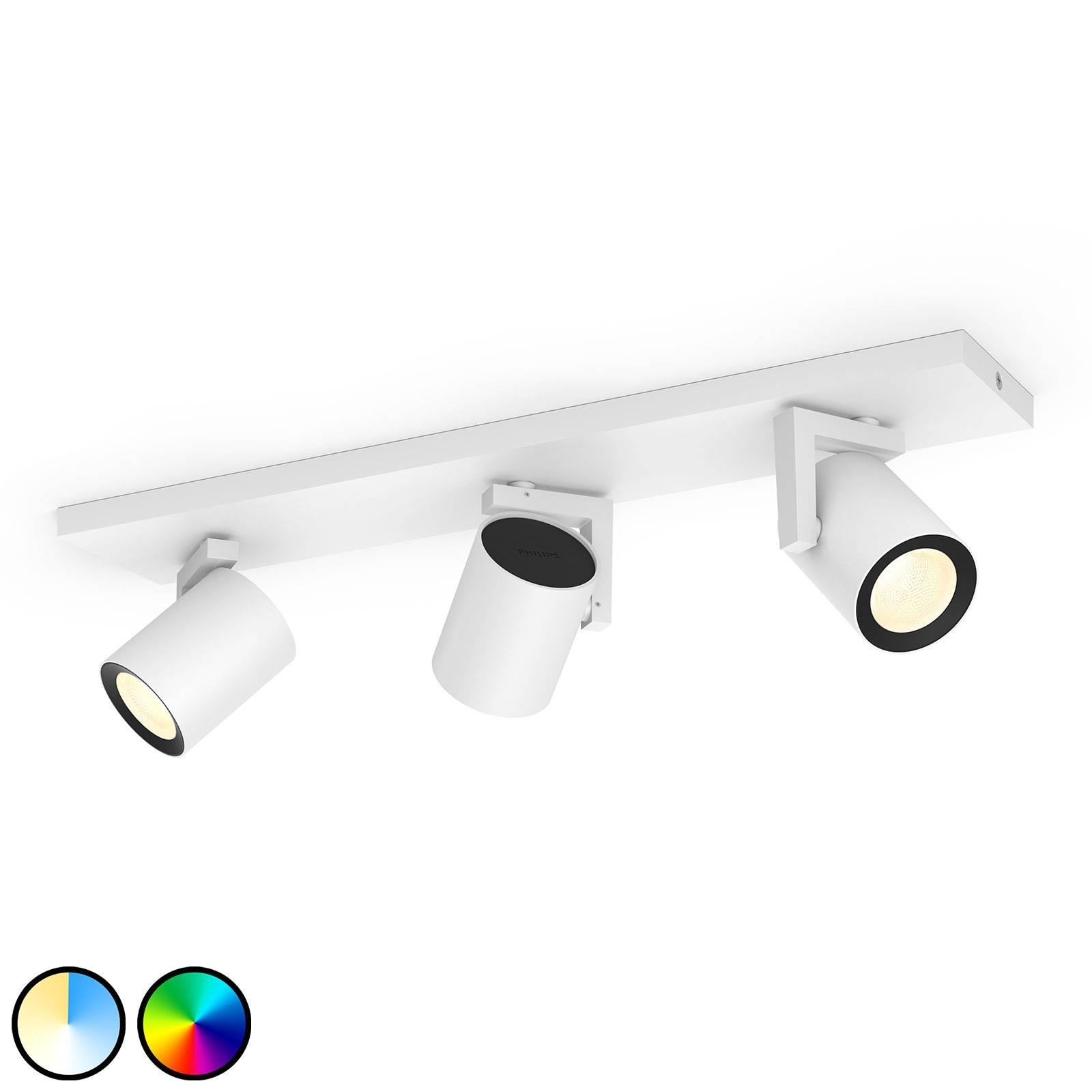 Philips Hue Argenta -LED-spotti 3-lamp., valkoinen