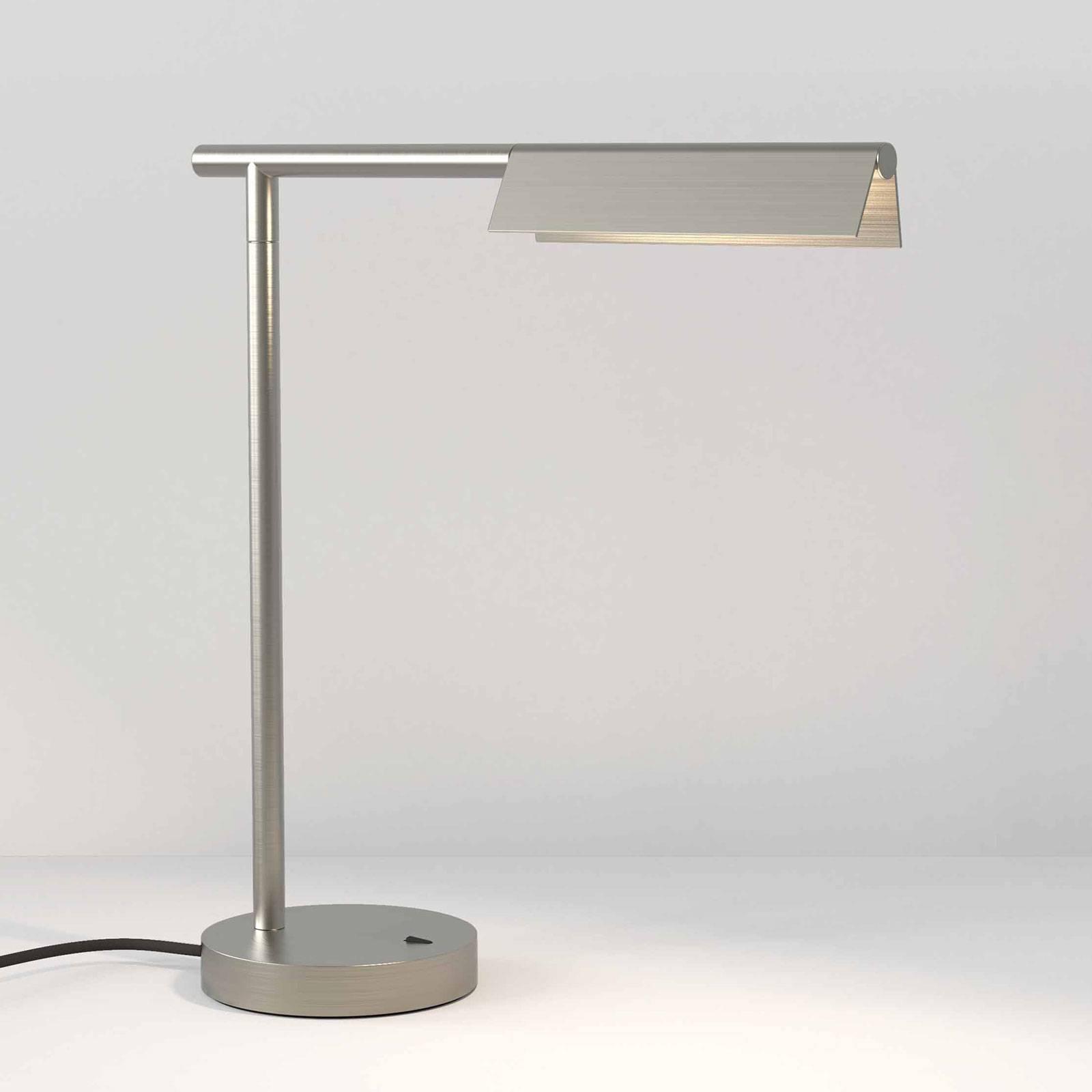 Astro Fold -LED-pöytälamppu, mattanikkeli