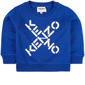 Kenzo Criss Cross Logo Sweatshirt Blå 2 år
