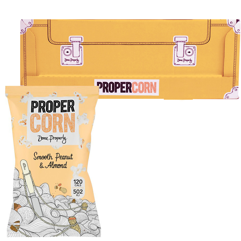 "Hel Låda Popcorn ""Peanut & Almond"" 12 x 90g - 71% rabatt"