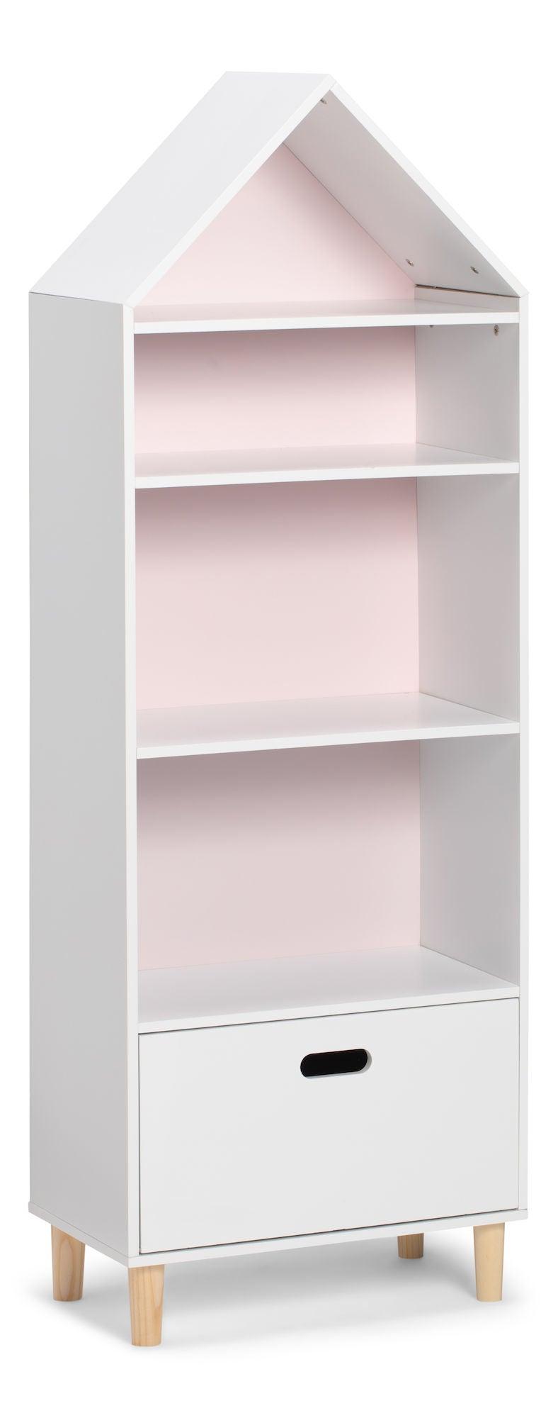 Alice & Fox Lipasto Talo 4-kerroksinen, Vaaleanpunainen