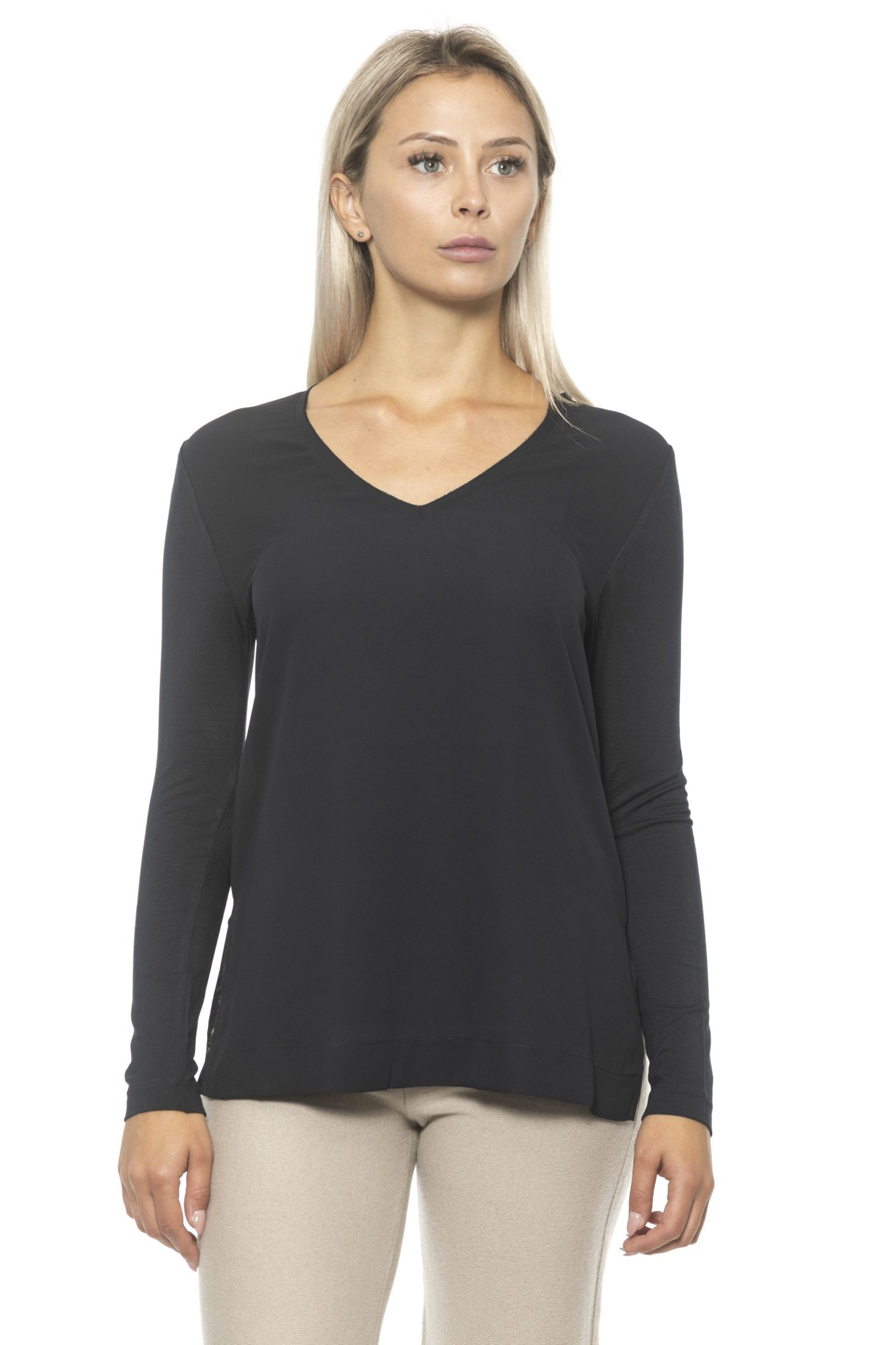Alpha Studio Women's Nero Sweater Black AL1313058 - IT40 | XS