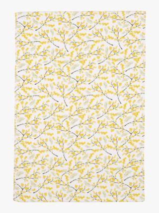 Mimosa koristepyyhe keltainen