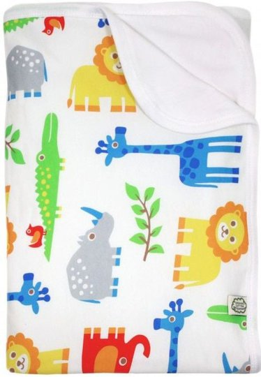 ImseVimse Organic Babyteppe, Wildlife, 80x100cm