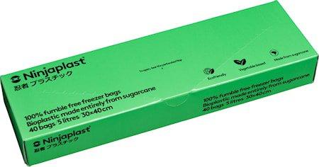 Fryseposer Fossilfrie 5 Liter 40-pakning