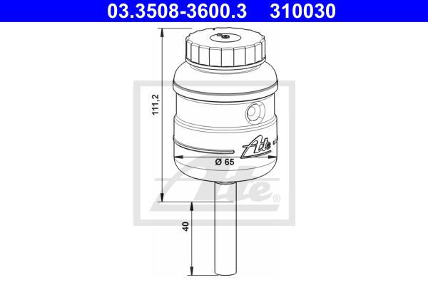 Nestesäiliö, jarruneste ATE 03.3508-3600.3