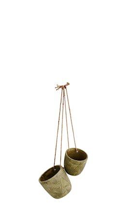 Blomsterkrukke hengende Ø 17 cm - Grønn