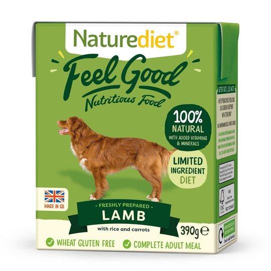 Naturediet Feel Good Lamm (390 gram)
