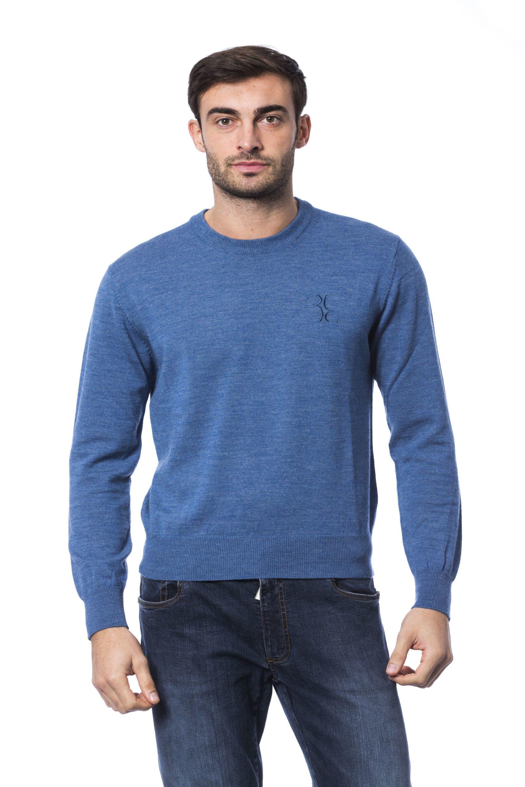 Billionaire Italian Couture Men's Avio Sweater Blue BI816576 - S