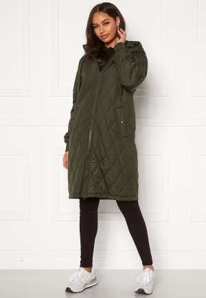 Happy Holly Melanie quilted hood jacket Khaki green 32/34