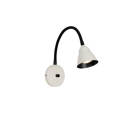 Relief Vägglampa Pärlvit/Matt svart
