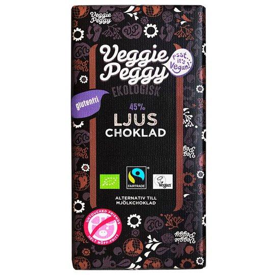 Veggie Peggy Ekologisk Ljus Choklad, 85 g