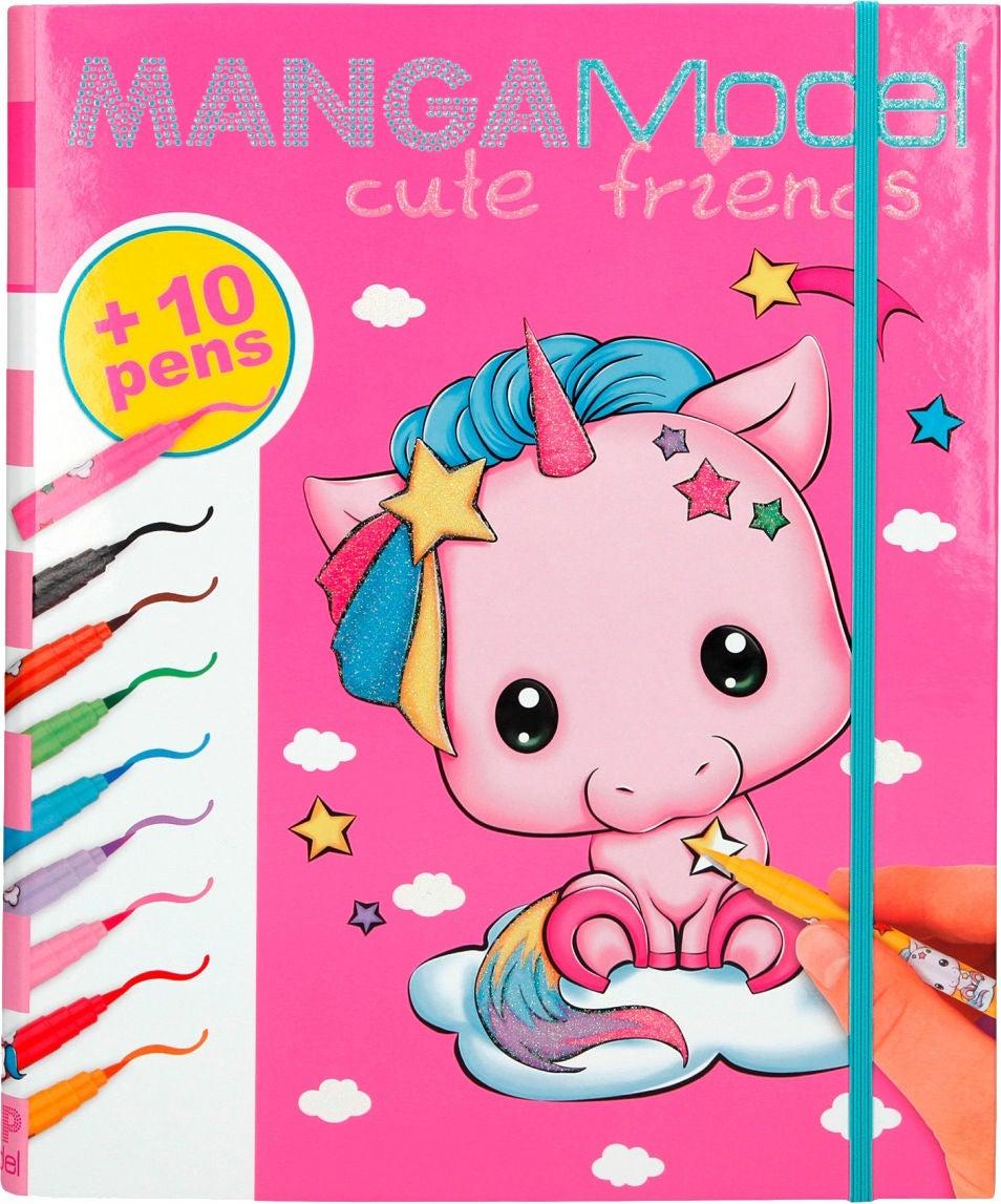 TOPModel Manga Cute Friends Målarmapp Med Tusch