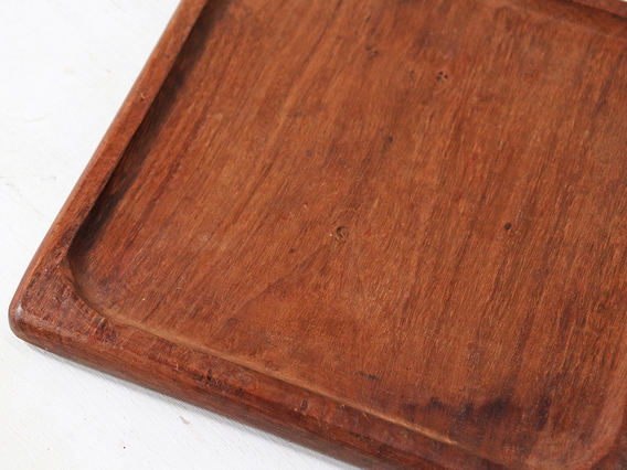 Old Wooden Tray - Square Brown