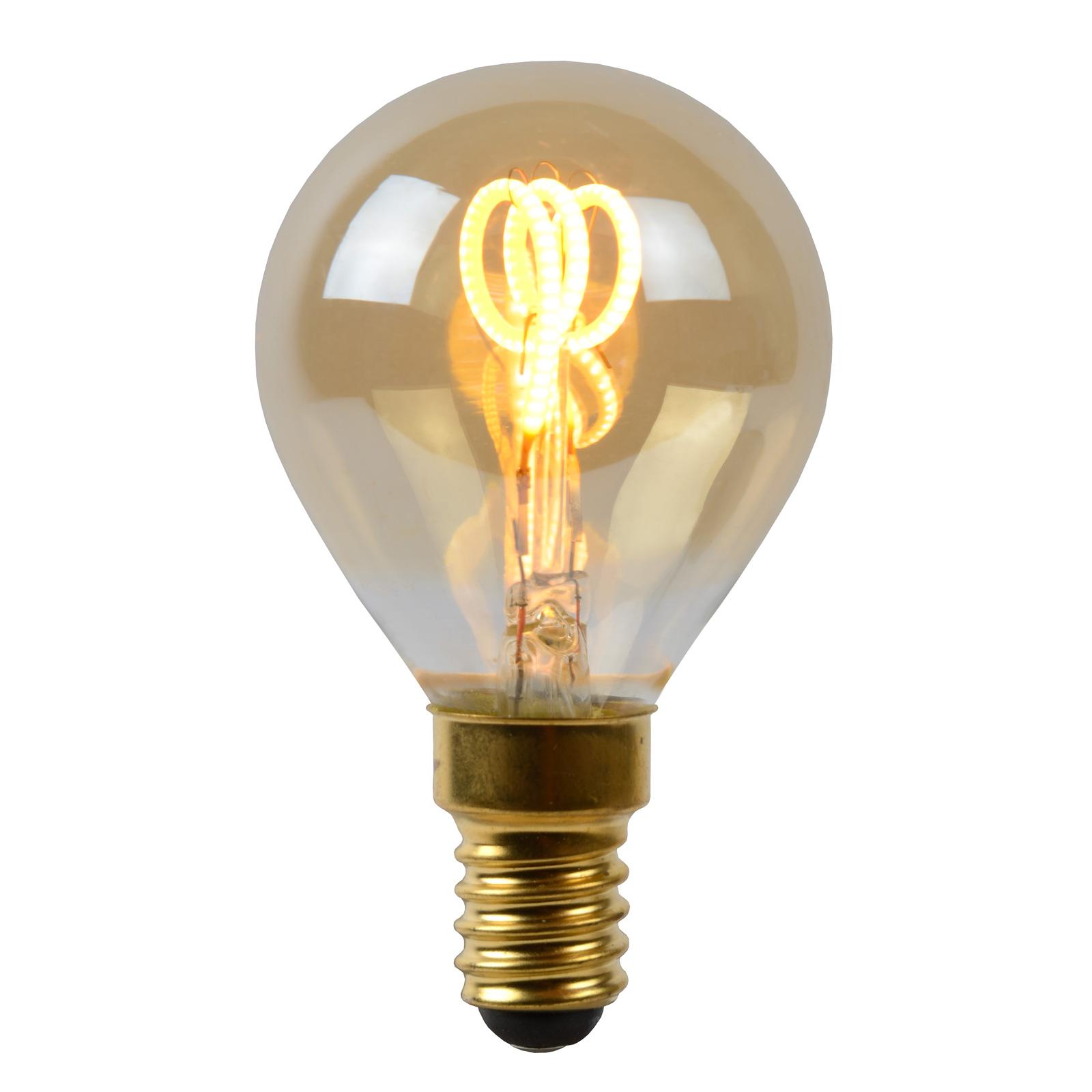LED-lamppu E14 3W pisara amber 2200K himmennettävä