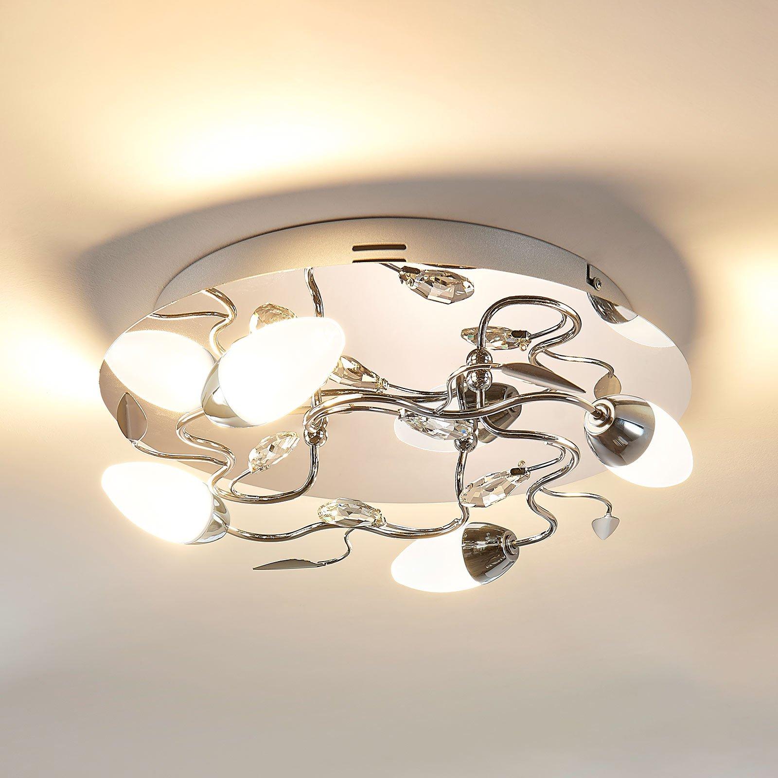 Rund LED-taklampe Mischa, dimbar i 3 trinn
